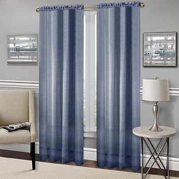 Ben&Jonah Collection Richmond Window Curtain Panel - 52x63 - Navy