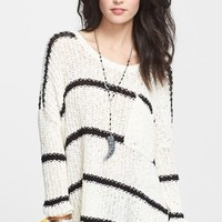 Free People 'Greenwich' Stripe Oversized Pullover