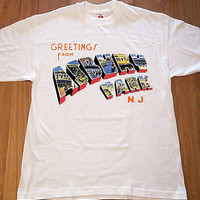 Bruce Springsteen Inspired Postcard Greetings From Asbury Park T Shirt Small Medium Large XL XXL