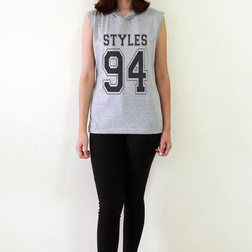 Harry Styles Shirt TShirt Styles 94 One Direction Sleeveless Hoodies Women T-Shirt Tank Top Hipster Size S M L