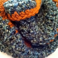 Infinity Cowl In Blue, Green, and Gold