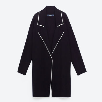 LAPEL COLLAR COAT - View all-OUTERWEAR-WOMAN | ZARA United Kingdom