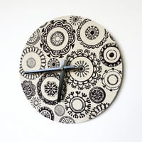 SALE Unique Wall Clock, Mandala Designs, Doily Clock, Shabby Chic Clock,  Home and Living, Unique Decor, Decor and Housewares,