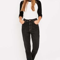 BDG Girlfriend Black Straight Leg Jeans - Urban Outfitters