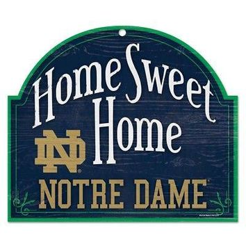 "Licensed Notre Dame Fighting Irish Official NCAA 11"" x 9"" Wood Sign ND by Wincraft KO_19_1"