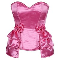 Daisy Corsets Lavish Pink Satin Corset w/Removable Snap on Skirt