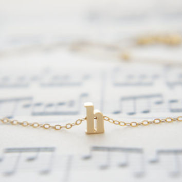 """Letter, Alphabet, Initial """"h"""" necklace, birthday gift, lucky charm"""