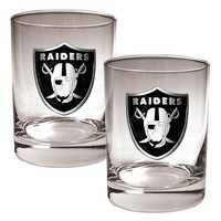 Oakland Raiders 2-pc. Rocks Glass Set (Black)