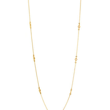 Coomi Gold Chain with Diamond Slice Necklace
