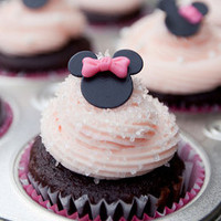 MIni MInnie Mouse Cupcake Fondant Toppers