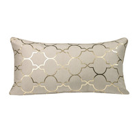 Westex Urban Loft Foil Tile Feather Filled Cushion Polyester Lumbar Pillow