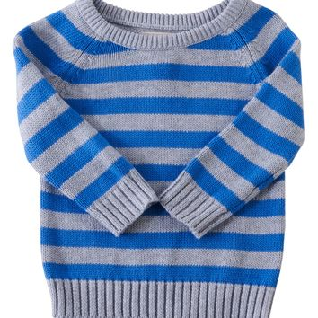 Peek 'Alex' Stripe Crewneck Sweater (Baby Boys) | Nordstrom