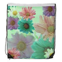 Touch Of Flowers Drawstring Backpack