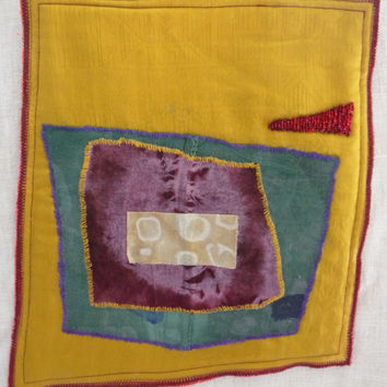 Art Quilt - Abstract Squares (Untitled) - Miniature