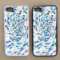 Cute Abstract Raindrop Swirl iPhone Case, iPhone 5 Case, iPhone 4S Case, iPhone 4 Case - SKU: 133