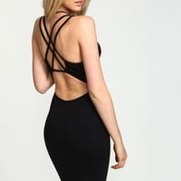 Strappy Criss Cross Bodycon Dress - LoveCulture