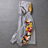 BAPE Hats Hoodies Fashion Zippers Jacket [58365607948]