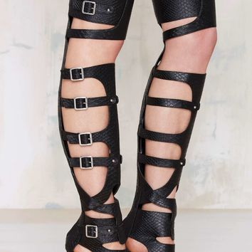 Nasty Gal Scale Up Knee-High Heel