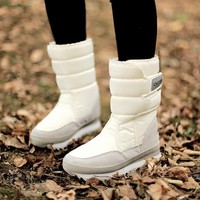 2018 new fashion thickening soft bottom waterproof antiskid to keep warm ski boots shoes