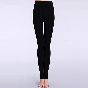 Women Leggings Autumn and Winter Warm Thick Velvet Thermal Pants Black High Waist Stirrup Leggings Girls medias de mujer
