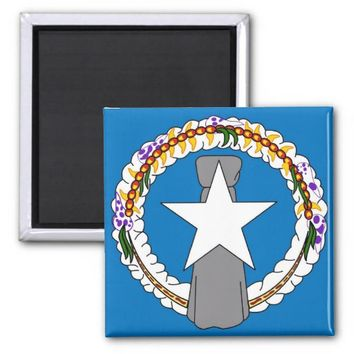 Magnet with Flag of Northern Mariana Islands - USA