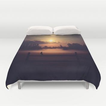 The Beginning Of The End  Duvet Cover by Faded  Photos