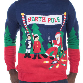 Men's Drunk Mall Santa Sweater