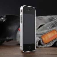 For iphone5 5S / iPhone SE Luxury No Screw 0.7mm Ultra Thin Metal Bumper With Button for apple iphone 5S 5 Aluminum Cases Frame