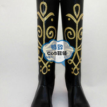 Disney Frozen Princess Anna Cosplay Shoes Boots Custom made