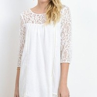 Aspen Lace shift dress