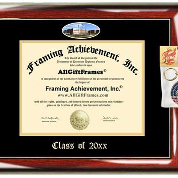 AllGiftFrames Custom Diploma Frame Embossed Grambling State University GSU Best Graduation Degree Frame Double Mat Campus Fisheye Picture Frame Cheap Degree Gift