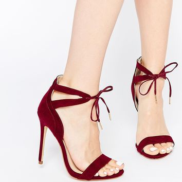 New Look Tie Front Heeled Sandals