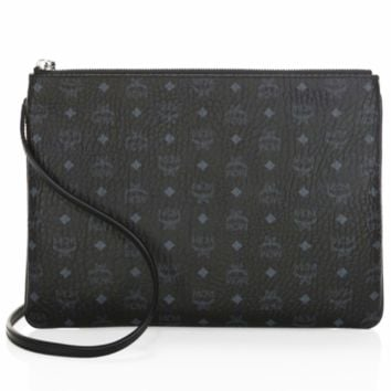 MCM counter fashion trend ladies logo print clutch wallet F0722-1 Black