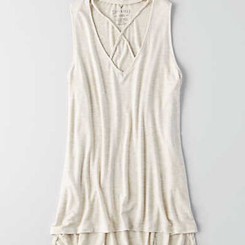 AEO Soft & Sexy Heathered Tank, Oatmeal Heather