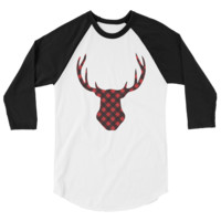 Buffalo Plaid Deer Head