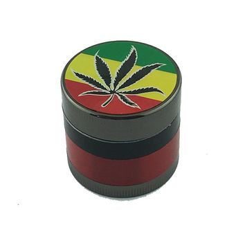 Random Color 4 Parts Mini Herb Grinder Weed Smoke Tobacco Hand Muller for Hookah Shisha Water Pipe Diameter 40mm Drop Shipping