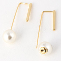 Edgy Pearl Earrings