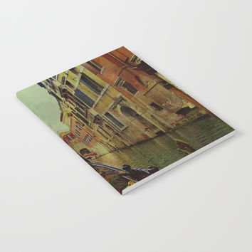 Venice, Italy Canal Gondola View Notebook by Theresa Campbell D'August Art