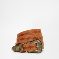 New Look Embossed Western Jeans Belt