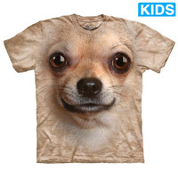 CHIHUAHUA DOG FACE Kids T-Shirt Funny 3D Pet Puppy Mountain Boy Girl NEW!