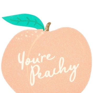 You're Peachy Glitter Greeting Card by Skinny Dip London