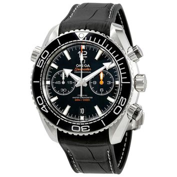 Omega Seamaster Planet Ocean Chronograph Automatic Black Dial Mens Watch