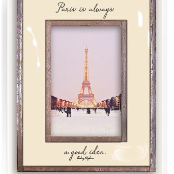 Paris Is Always A Good Idea Copper & Glass Photo Frame
