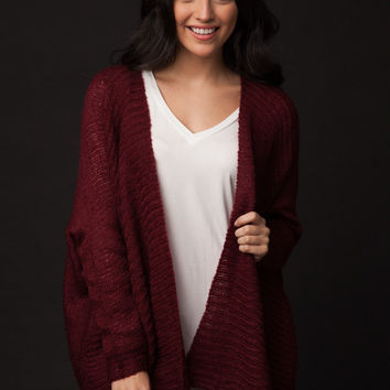 Inspired Moments Burgundy Sweater