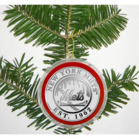 New York Mets Silver Coin Ornament