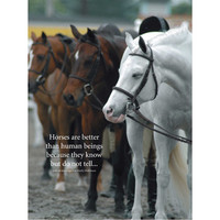 Horses Are Better Poster I WHF Original Horse Poster-Wild Horsefeathers