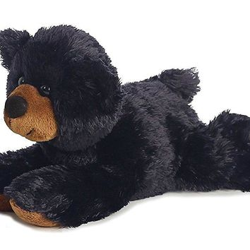 Aurora Plush Sullivan Black Bear Mini Flopsie 8``