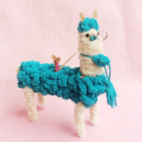 Amigurumi Alpaca Toy - Stuffed Animal - Stuffed Alpaca - Plush Llama - Alpaca Yarn - Llama plushies - Gift for valentine - Soft Toy Llama