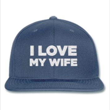 I LOVE MY WIFE EMBROIDERY HAT