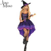 2016 New Fashion Halloween Costume Adult Women Sexy Plus Size Witch Cosplay Party Dress Costumes Clothing For M L XL XXL